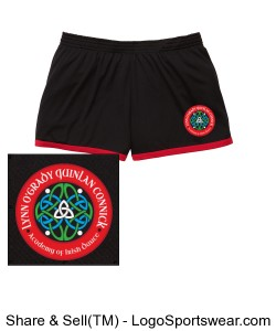 YOUTH Girls Red Trim ID Short Design Zoom